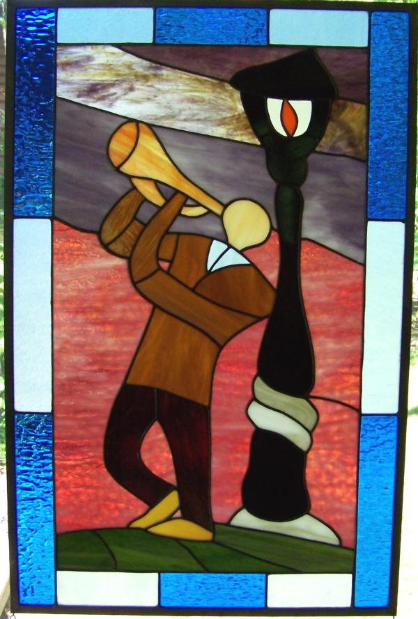 new orleans jazz street corner stained glass