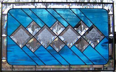 glue chip textured beveled stained glass