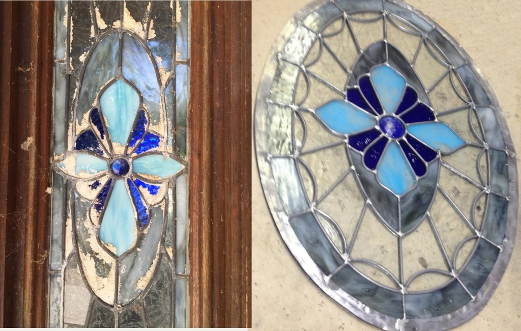 blue glass restoration