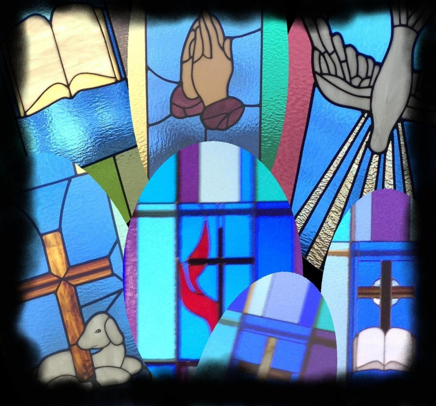 praying hands bible cross
