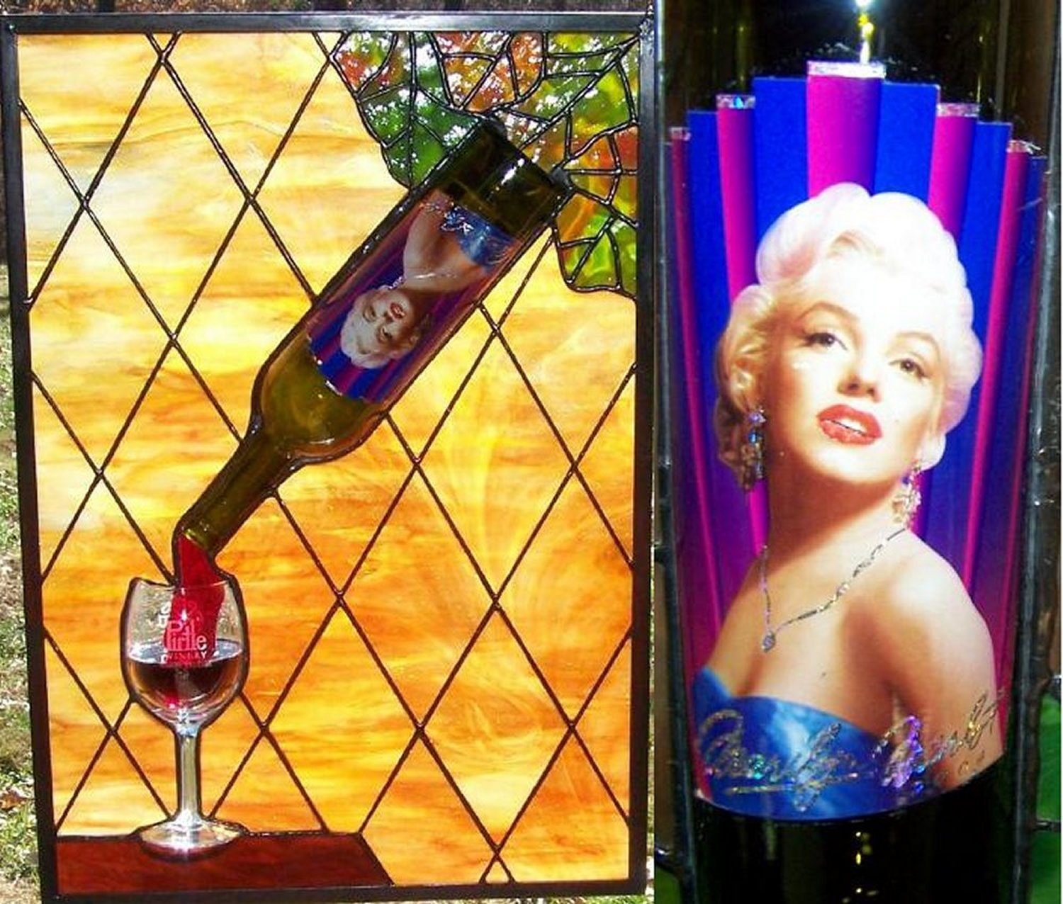 Marilyn Stained Glass window