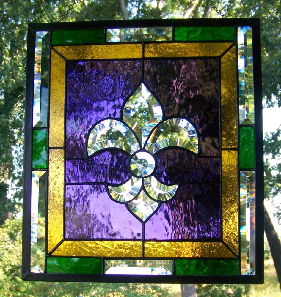 Royalty Purple Gold Stained glass