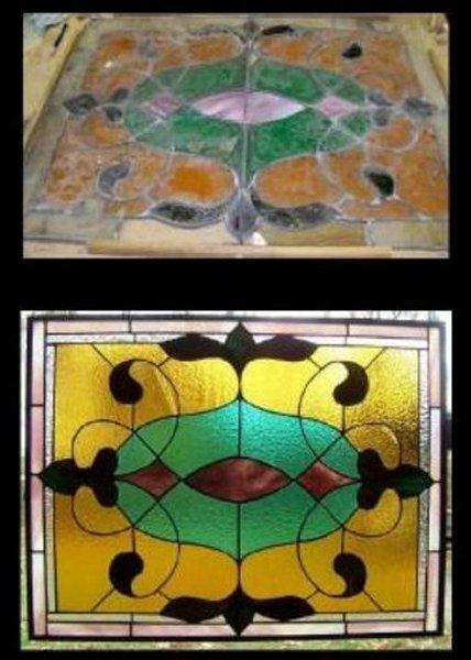 stained glass vintage restoration